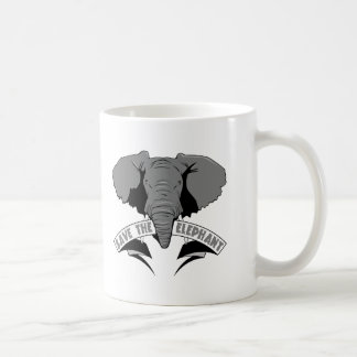 Save The Elephant Classic White Coffee Mug