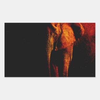Save the Elephant Rectangular Sticker