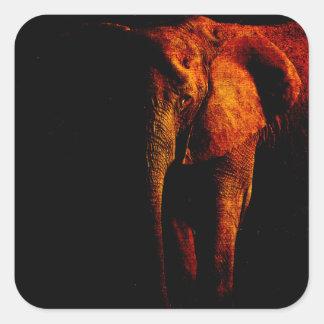 Save the Elephant Square Sticker