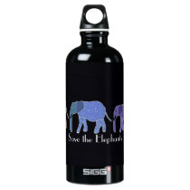Save the Elephants Aluminum Water Bottle