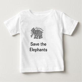 Save the Elephants Baby Tee