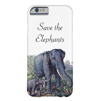 Save the Elephants Barely There iPhone 6 Case