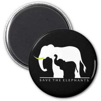 Save the Elephants (black) Magnet
