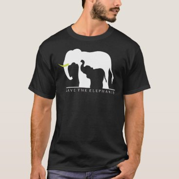 Beach Themed Save the Elephants (black) T-Shirt