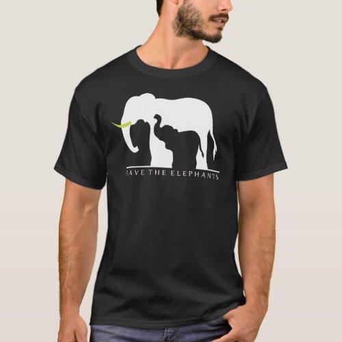 Save the Elephants black T_Shirt