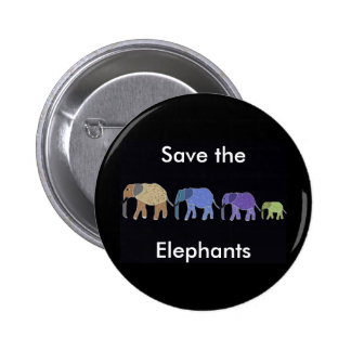 Save the Elephants Button