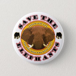 Save the Elephants Button
