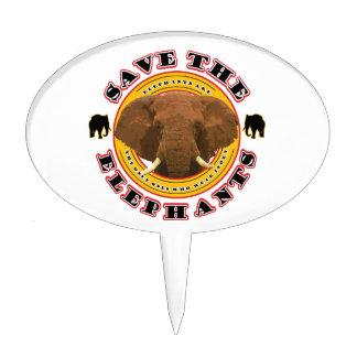 Save the Elephants Cake Topper