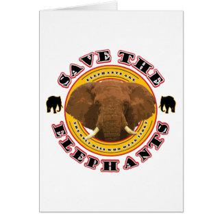 Save the Elephants Card