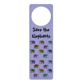 Save the Elephants Custom Door Hanger