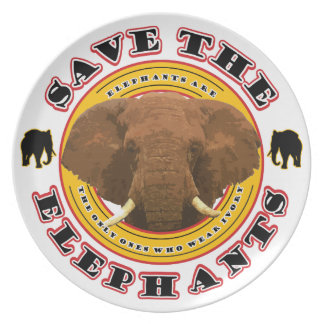 Save the Elephants Dinner Plate