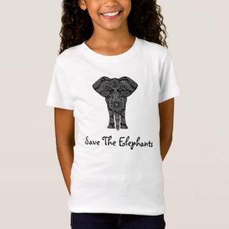 Save The Elephants Elephant Graphic Bohemian T-Shirt