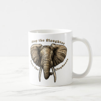 Save the Elephants Graphic Coffee Mug