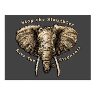 Save the Elephants Graphic Postcard
