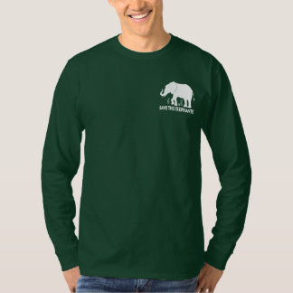 Save the Elephants in Silhouette T Shirt