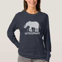 Save the Elephants in Silhouette T-Shirt