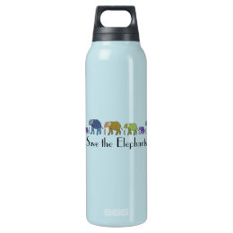 Save the Elephants Insulated Water Bottle