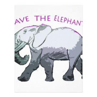 Save the Elephants! Letterhead