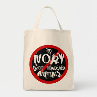 SAVE THE ELEPHANTS. NO IVORY FROM MURDERED ANIMALS TOTE BAG