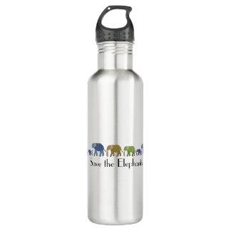 Save the Elephants 24oz Water Bottle