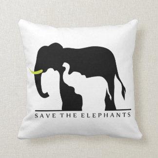 Save the Elephants Pillow