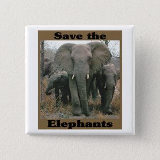 Save the Elephants Pinback Button