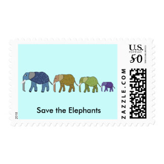 Save the Elephants Postage Stamps