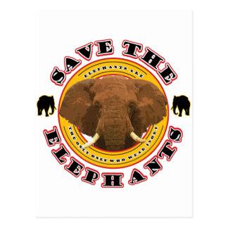 Save-The-Elephants Postcard