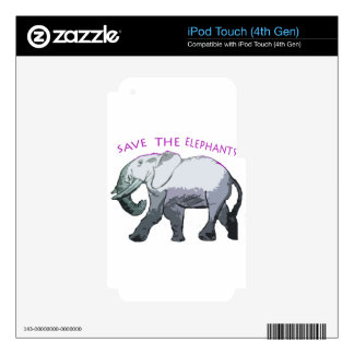 Save the Elephants! Skin For iPod Touch 4G