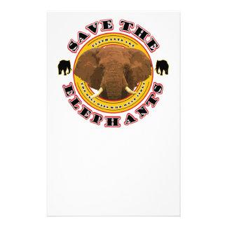 Save the Elephants Stationery