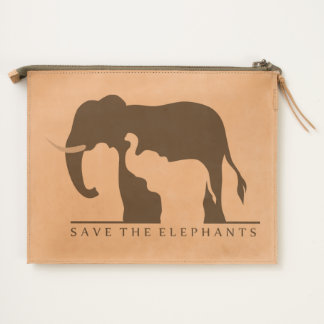 Save the Elephants Travel Pouch
