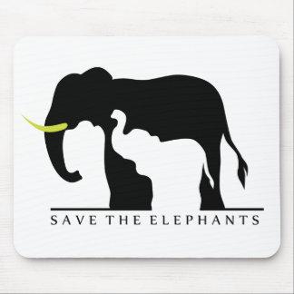 Save the Elephants (white) Mouse Pad