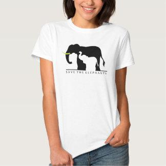 Save the Elephants (white) Tee Shirt