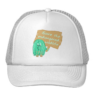 save the endanged wildlife mesh hats