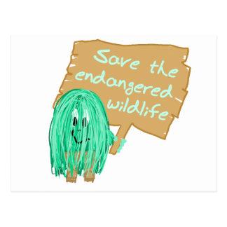 save the endanged wildlife postcard