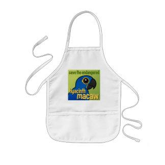 Save the Endangered Hyacinth Macaw Kids' Apron