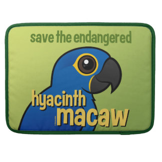 Save the Endangered Hyacinth Macaw MacBook Pro Sleeves