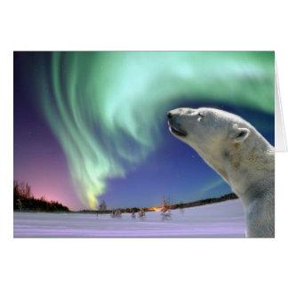 Save the Endangered Polar Bears for Christmas Card
