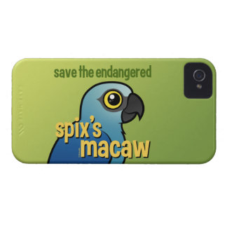Save the Endangered Spix's Macaw iPhone 4 Case-Mate Case
