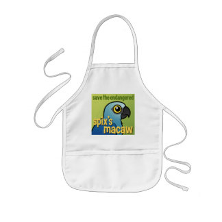 Save the Endangered Spix's Macaw Kids' Apron