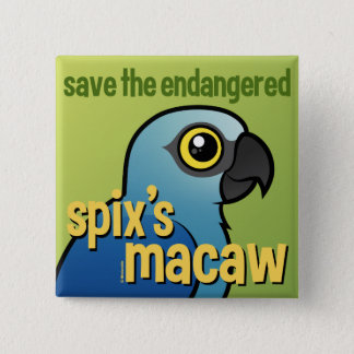 Save the Endangered Spix's Macaw Pinback Button