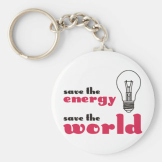 Save the Energy, Save the World Key Chains