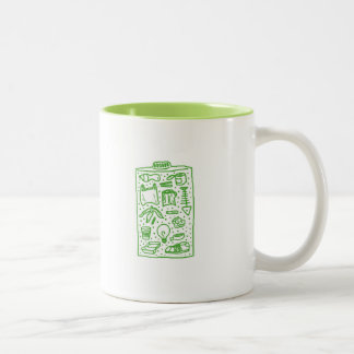 save the environment -- battery cup Two-Tone mug
