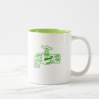 save the environment -- water cup Two-Tone mug