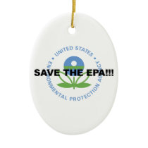 Save the EPA Ceramic Ornament
