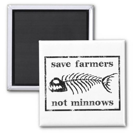 Save The Farmers 2 Inch Square Magnet