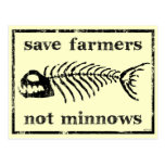 Save The Farmers Post Card