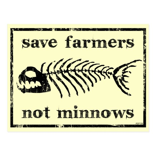 Save The Farmers Postcard