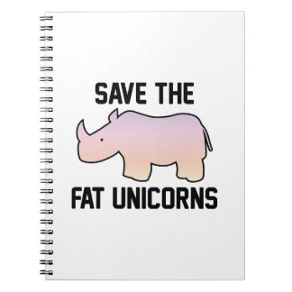 Save The Fat Unicorns Spiral Notebook