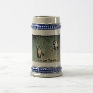 Save The Ferrets Beer Stein
